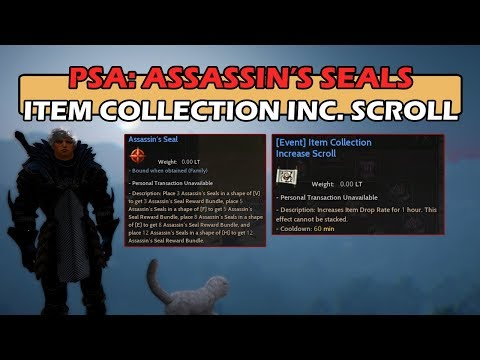 PSA: Assassin's Seals - Item Collection Scrolls for 50% Drop