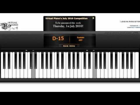 [ Virtual Piano ] Love Story With Auto Keyborad