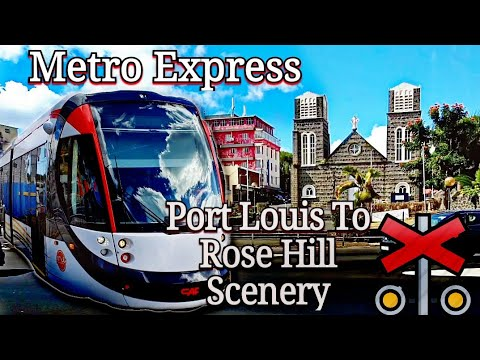Mauritius Metro Express | Port Louis to Rose Hill Scenery (Full Unedited Video)