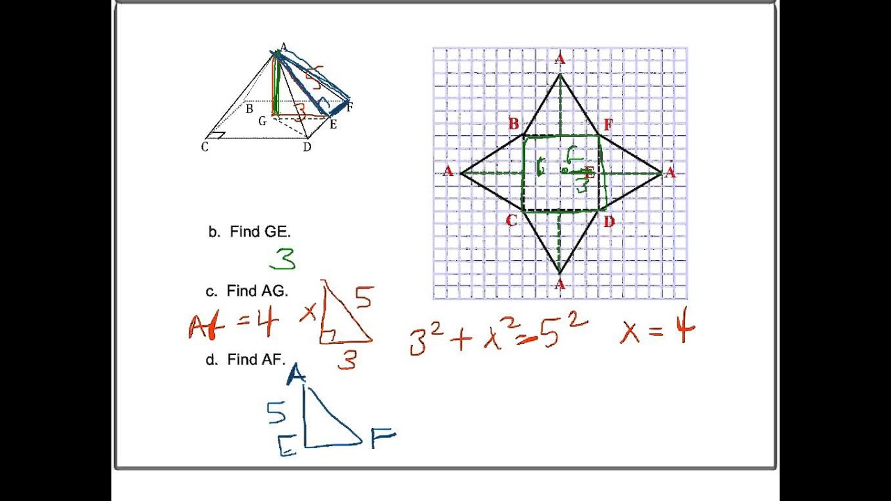 worksheet How Do You Find The Surface Area Of A Pyramid – Surface Area of a Pyramid Worksheet