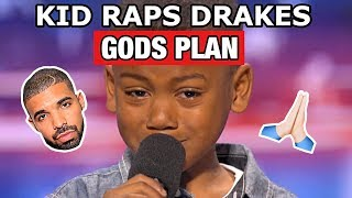 "kid raps drake ""gods plan"" on americas got talent"