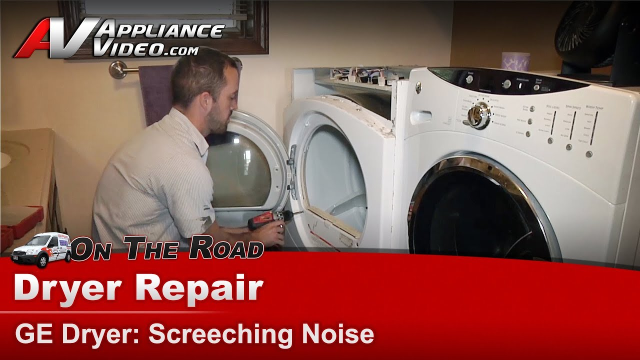 Dryer Repair Screeching squealing noise - diagnostic & repair -  GE,Hotpoint, RCA - YouTube