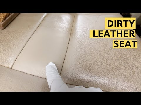 How To Clean ACTUAL Dirty Leather Car Seats