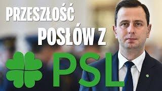 Przeszłość posłów z Polskiego Stronnictwa Ludowego (PSL).
