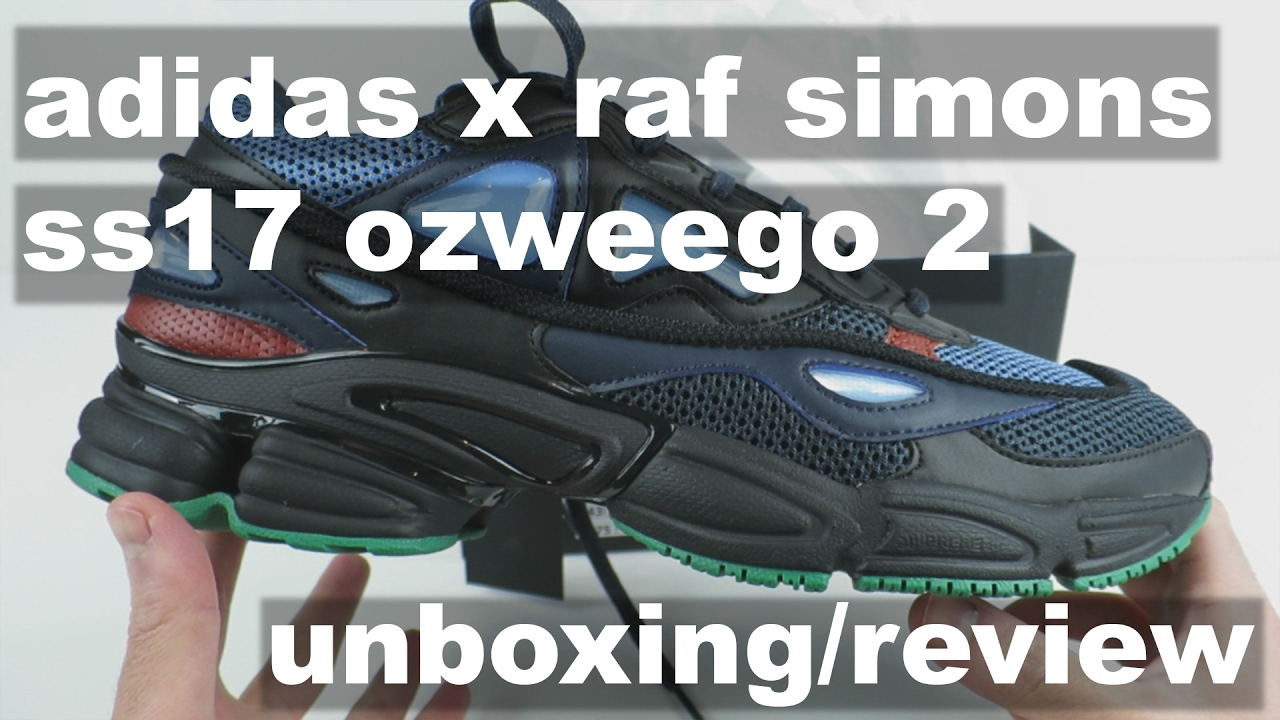 the latest b92d7 25011 Adidas x Raf Simons SS17 Ozweego 2 'Night Marine' - Unboxing, Review,  On-Foot