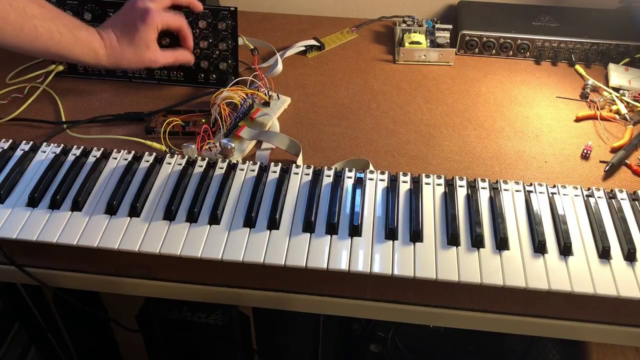 Mini Moog Model D Clone DIY Keyboard Sequencer