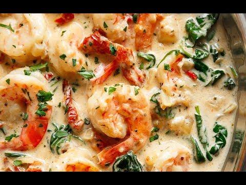 Creamy Garlic Butter Tuscan Shrimp
