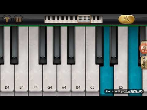 O meghave Kannada song on mobile piano