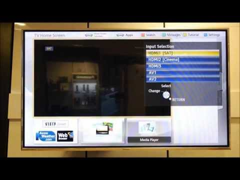 Panasonic Viera Naming & Disabling Input/AV Labels