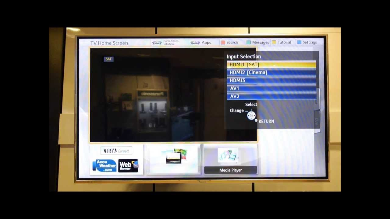 Panasonic Viera Naming & Disabling Input/AV Labels