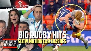 Big Rugby Hits (Slow Motion Car Crashes)