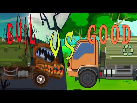 Good VS Evil | Garbage Truck | Trucks Cartoon