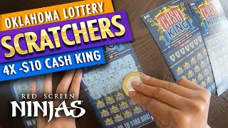 VGT SLOTS - OKLAHOMA LOTTERY SCRATCHERS $10 WITH RED SCREEN NINJAS!