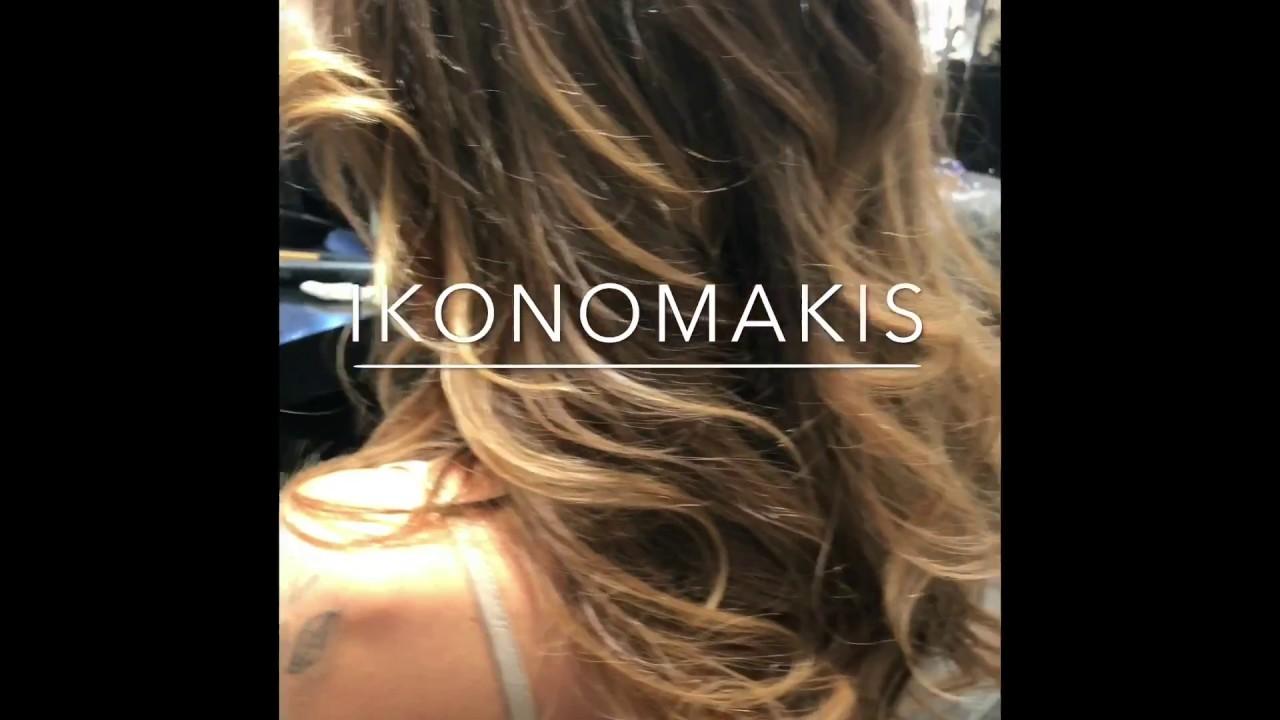 Hair Makeover By Ikonomakis Sun Kissed Highlights Longhair Youtube