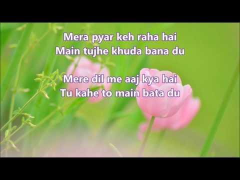 mere-dil-me-aaj-kya-hai---daag---full-karaoke-with-scrolling-lyrics