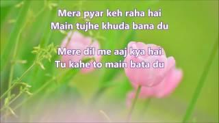 Mere Dil Me Aaj Kya Hai - DAAG - Full Karaoke with scrolling lyrics