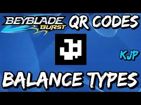 Beyblade Burst QR Codes (Balance Types)