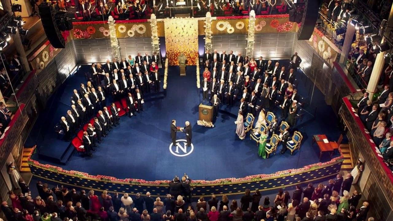 Image result for entrega de premio nobel