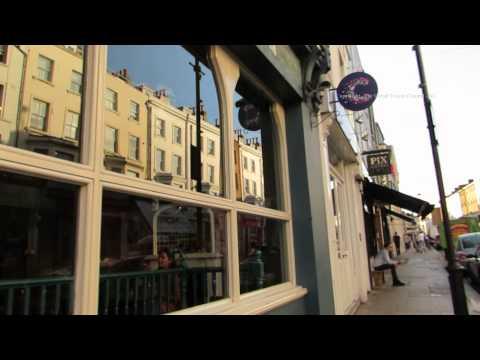 Evening Walk Down Portobello Road to the Electric Cinema in London