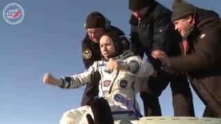 Есть посадка! Экипаж МКС-52/53 на Земле
