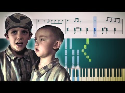 The Boy in the Striped Pajamas: Boys playing airplanes (James Horner) - Piano Tutorial