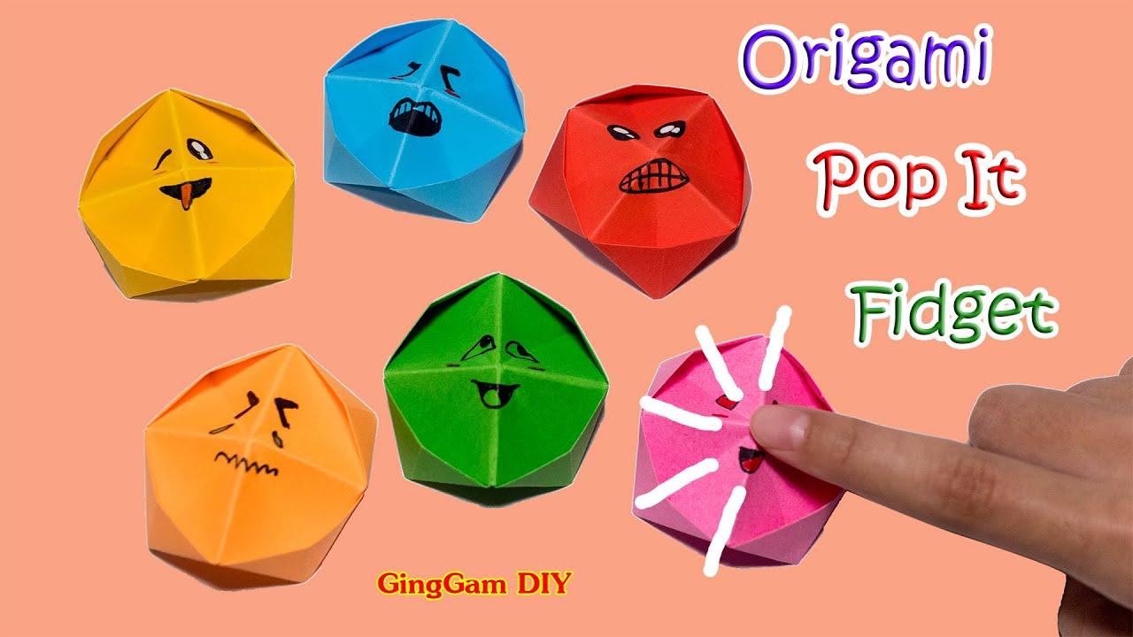 Origami pop it fidget -  ป๊อบอิทกระดาษ ไม่ใช้กาว