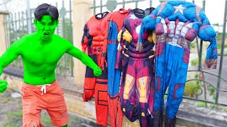 Hulk became a Superheroes and Help My Friends with Siren Head - BigGreenTV