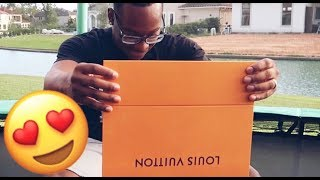 I SURPRISED HIM WITH A LOUIE VUITTON BAG!!