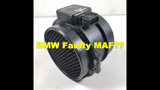 BMW Mass Air Flow Meter Diagnosis E46 E39 E53