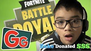Kid erhält Livestream-Spende + Squad Dubs (Fortnite Battle Royale)