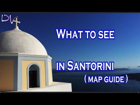 Santorini, Greece. Map guide.