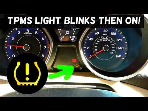 Tpms Light Blinking And Stays On Fix Youtube