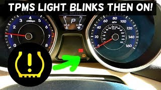 TPMS LIGHT BLINKING AND STAYS ON FIX
