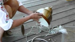 Upcycled Pendant Light Fixture. Diy Luz Pendente Enfeitado