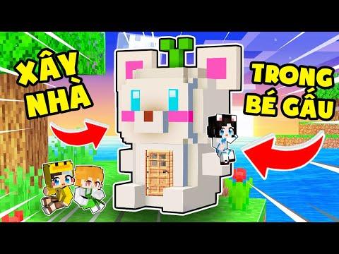 Mr Vịt và Kamui XÂY NHÀ trong BÉ GẤU TUYẾT Khổng Lồ Minecraft