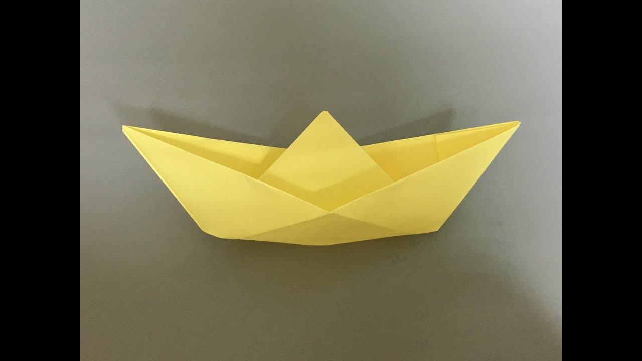 How To Make A Paper Boat 1 Origami Stuff Youtube