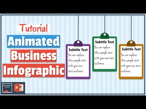 Simple Animated Business Info Graphic in PowerPoint