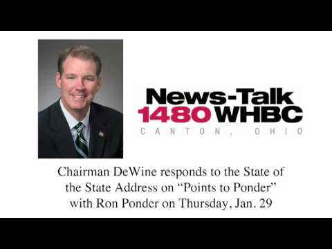 Chairman DeWine on WHBC with Ron Ponder