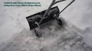 Скрепер для уборки снега HECHT 661 GT | Пример работы и Обзор.