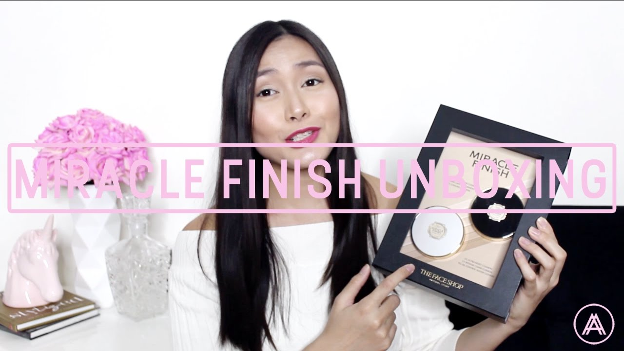 UNBOXING & REVIEW | THE FACE SHOP\'S MIRACLE FINISH FOUNDATION - YouTube