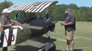 Probably the biggest RC aircraft at Joe Nall 2015 this half-scale F...
