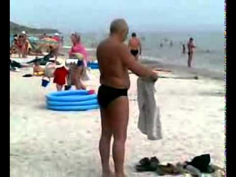 Как мужик одевался на пляже УМОРА