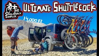 Dropping in at 14,000 ft!   Epic MTB Jeep Shuttle // The Singletrack Sampler