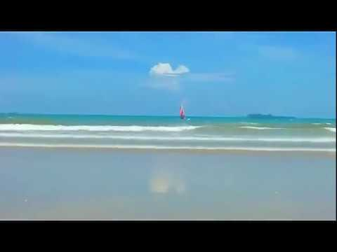 The beach at Sanya Bay, Hainan Island, China