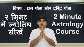 Wealth Yoga, Poverty Yoga & Vipreet Rajyoga (धन योग और दरिद्र योग) : 2 Minute Astrology - XV