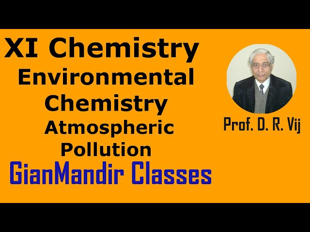 XI Chemistry | Environmental Chemistry | Atmospheric Pollution by Ruchi Ma'am