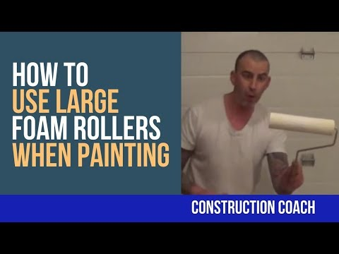 How to use Large Foam Rollers when Painting - YouTube