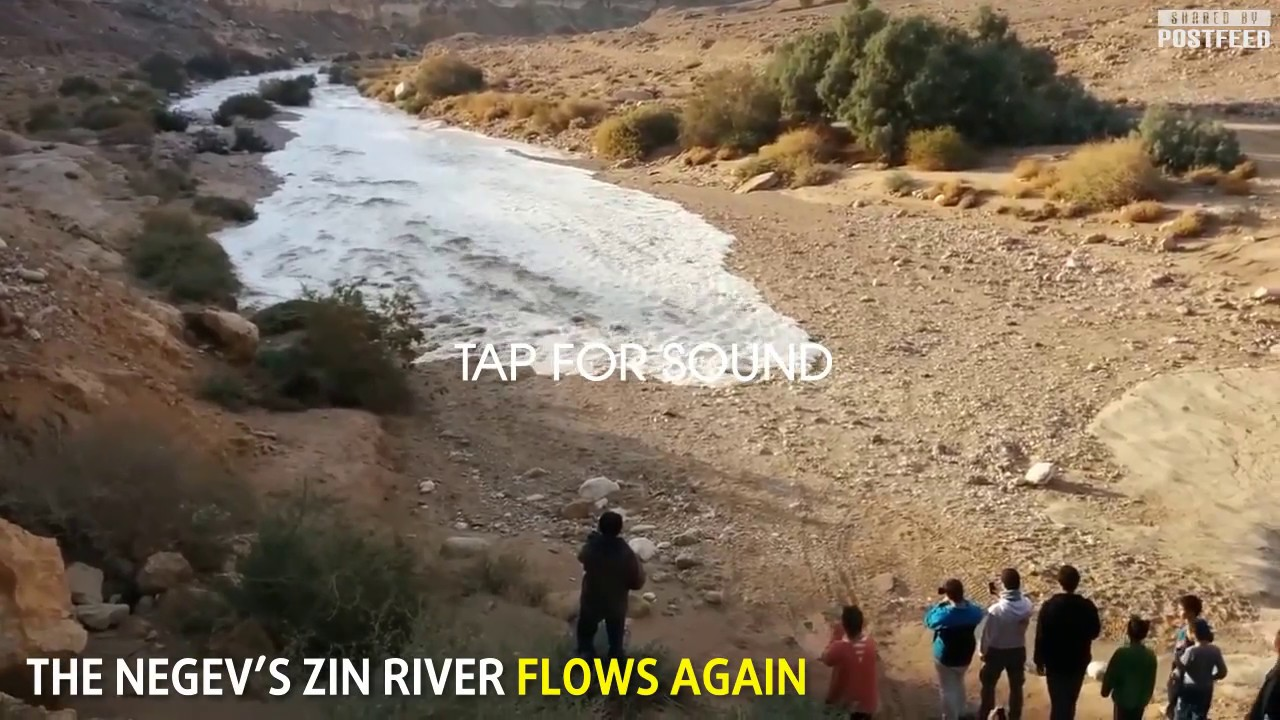 The Incredible Moment a River is Reborn in the Israeli Desert!