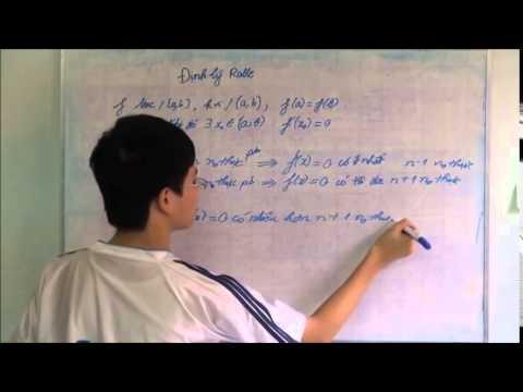 Định lý Rolle (Ôn thi KSTN 2011)