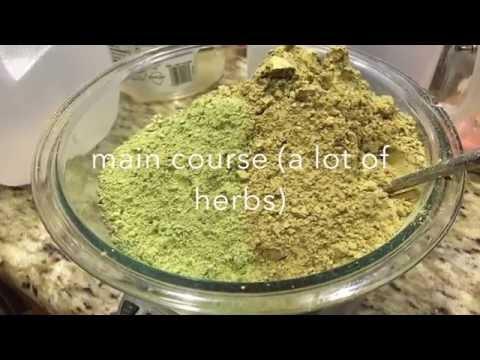 Making herbal soaps